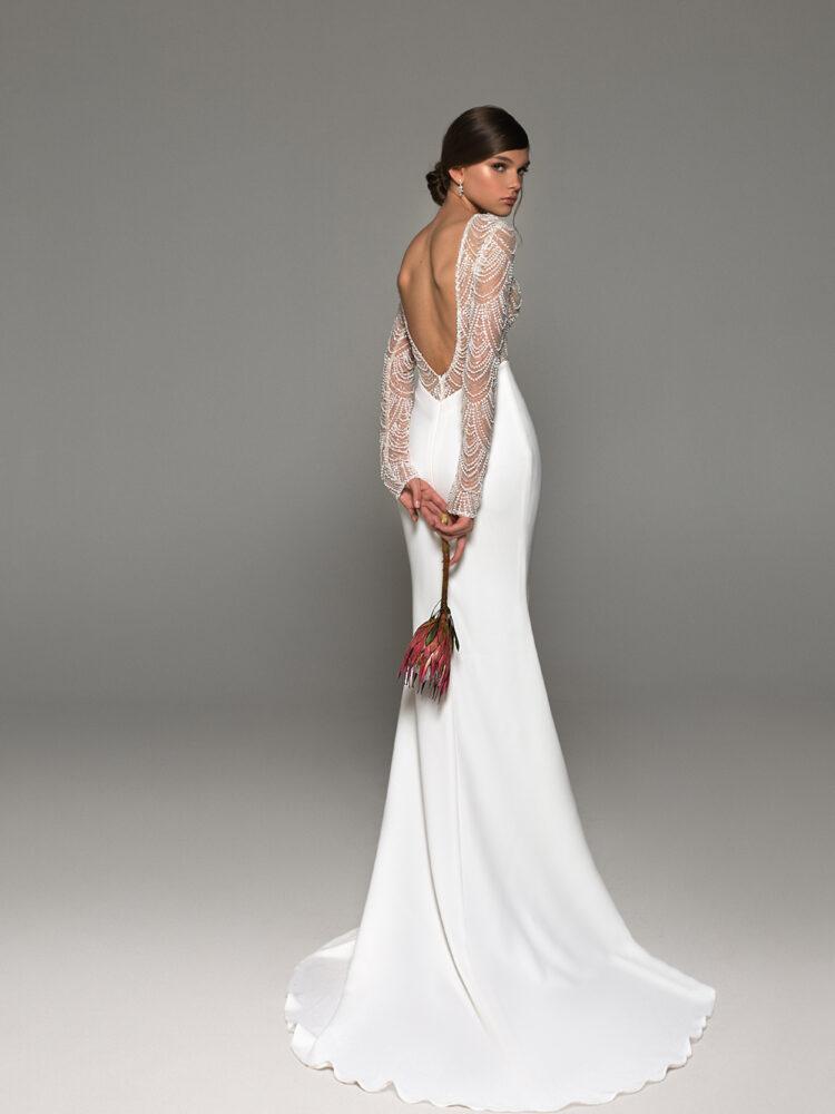 wedding dress open back Eva lendel